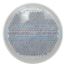 Jokon White/Clear 85mm Round Stick On Front Reflector